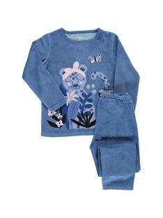 Girls' velour pyjamas CEFAPYJTIG / 18SH1141PYJC208
