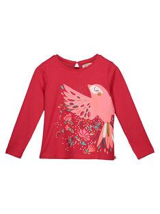 Girls' long-sleeved printed T-shirt GAVETEE / 19W90121TMLD318