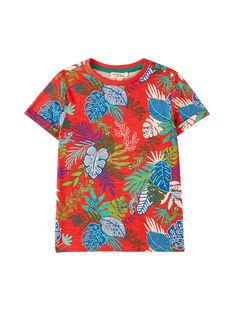 Dark orange T-shirt JOSAUTI6 / 20S902Q6TMC408