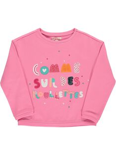 Girls' fleece sweatshirt CAHOSWE / 18S901E1SWED309