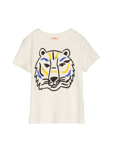 Boys' fancy short-sleeved T-shirt FOJOTI2 / 19S90232D31001