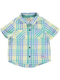 Baby boys' checked shirt CUBUCHEM / 18SG10K1CHM099