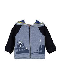 Baby boys' zipped hooded jacket FUCOHOJOG / 19SG1082GIL099