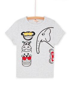 Grey and black t-shirt for boys LOVITI6 / 21S902U2TMC943