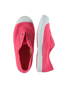 Girls' canvas trainers FFTENCORAL / 19SK35B6D16404