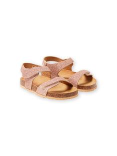 Pink gold sandals for baby girls LFNUGOLD / 21KK3556D0EK009