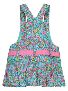 Baby girls' flowery dungaree dress FICUROB3 / 19SG09N3ROB202
