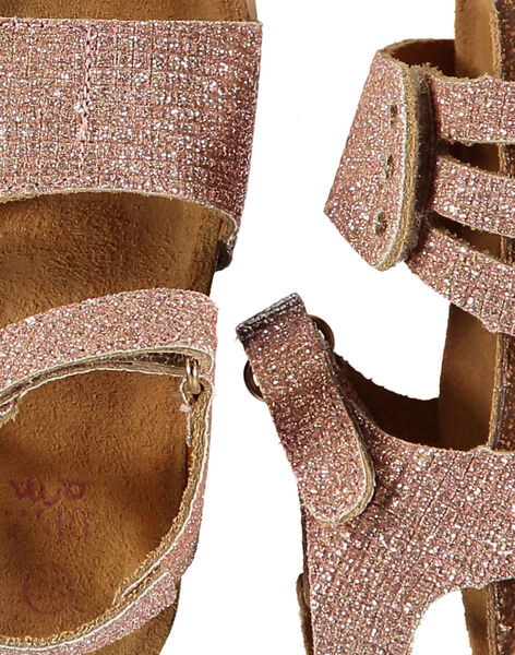 Baby girls' smart leather sandals FBFNUGOLD / 19SK37D3D0E954