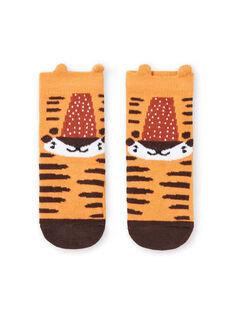 Baby boy mustard tiger socks LYUTERCHO1 / 21SI10V1SOQB106