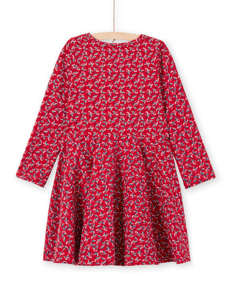 Red dress with flowery print for baby girl MAMIXROB3 / 21W901J1ROB511