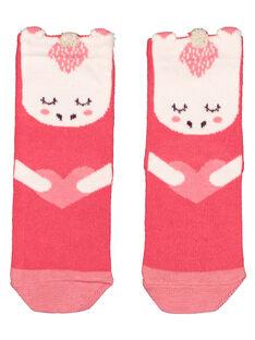 Baby girls' printed socks GYIVECHO / 19WI0921SOQD318