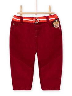 Baby boy striped pants and belt MUFUNPAN1 / 21WG10M1PAN504