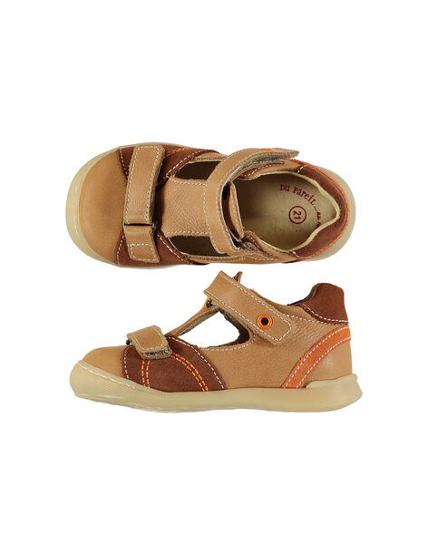 Baby boys' smart leather T-bar shoes. FBGSALNIA2 / 19SK3881D13804