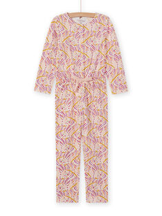 Girl's fancy print pajama suit MEFACOMBZEB / 21WH1181D4FD322