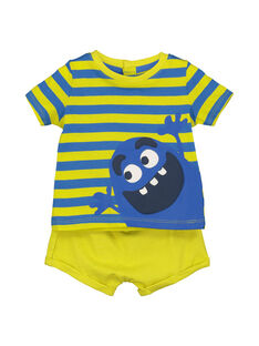 Baby boys' T-shirt and shorts set FUPLAENS1 / 19SG10P1ENS099