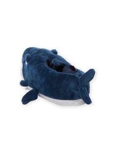 Blue slippers 3D shark child boy MOPANTREQ3D / 21XK3631PTD715