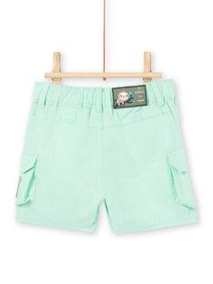 Baby boy water green Bermuda shorts LUVERBER2 / 21SG10Q2BERG621