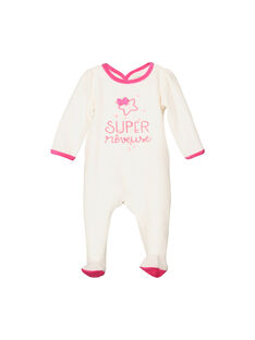 Girls' velour sleepsuit FEFIGREMOT / 19SH1344GRE001