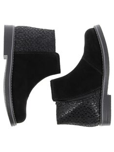 Girls' leather boots DFBOOTSO / 18WK35T8D0D090