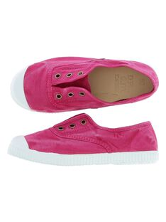 Girls' canvas trainers CFTENHERB2 / 18SK35O6D16304