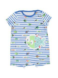 Baby boys' short sleepsuit CEGUGRENID / 18SH1466GRE099