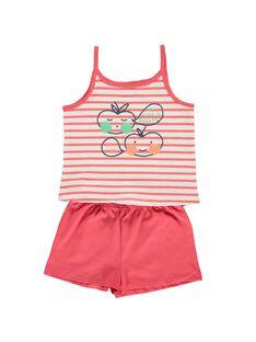 Girls' cotton pyjamas CEFAPYCPOM / 18SH1164PYJ099