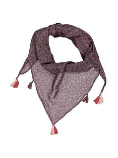 Girls' scarf with pompoms FYAJOUFOUL / 19SI01T1FOU099