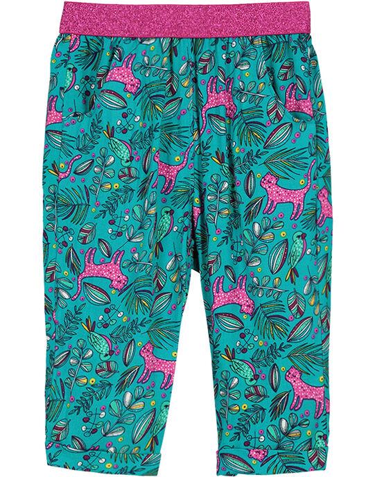 Turquoise pants FITUPAN / 19SG09F1PAN202
