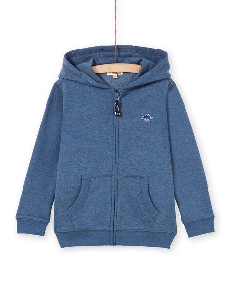 Jogging top - boy child - mottled blue LOJOJOH3 / 21S90242JGH222