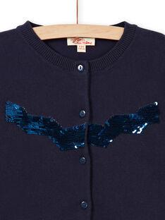 Navy blue vest with reversible sequins LAJOCAR1 / 21S90142D3C070