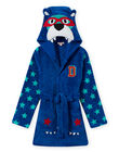 Blue robe with bear pattern for boy MEGOROBOURS / 21WH1281RDC702