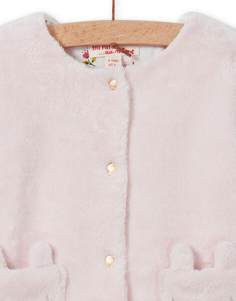 Baby Girl Light Pink Reversible Cardigan MIJOCAR2 / 21WG0912CAR632