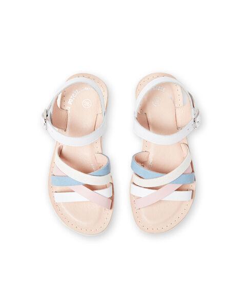 White sandals child girl LFSANDCLAIRE / 21KK355KD0E000