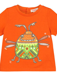 Baby boys' insect short-sleeved T-shirt FUYETI1 / 19SG10M1TMC400