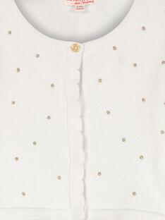 Girls' polka dot bolero cardigan FAPOCAR1 / 19S901C1CAR000