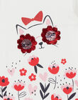 Long sleeved T-shirt, cat print and flowers LAROUTEE2 / 21S901K2TML001