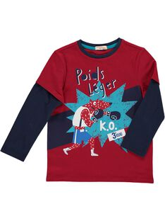 Boys' 2 in 1 effect long-sleeved T-shirt DOTRITEE3 / 18W902D3TML510