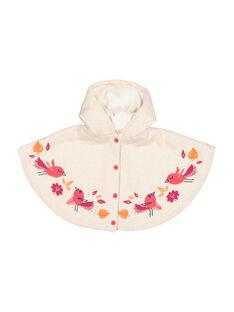 Baby girls' wool poncho FIBACAPE / 19SG09X1CPE001