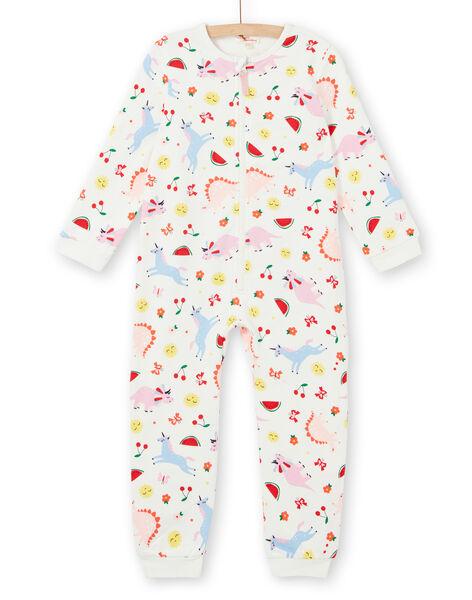Girl's child's fleece top in fancy printed scratched fleece LEFACOMBDI / 21SH1111D4F001