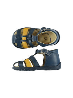 Baby boys' smart leather sandals. FBGSANDBI2 / 19SK38D1D0E070
