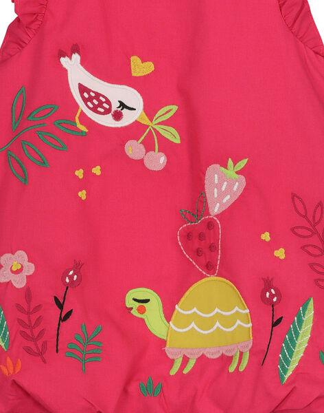 Baby girls' bouffant poplin dress FIYEROB3 / 19SG09M3ROB304