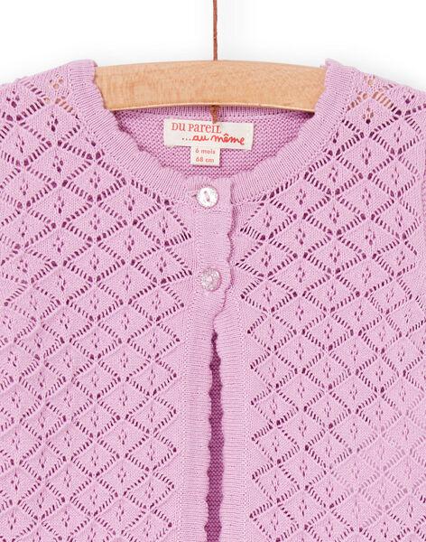Pink openwork mesh vest baby girl LIVICAR / 21SG09U1CAR320