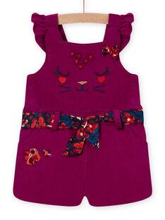 Baby girl's purple overalls and velvet belt MIPASAC / 21WG09H2SAL712