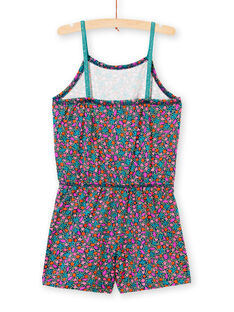 Combishort with thin straps and multicolor print LAPLACOMB1 / 21S901T3CBL716