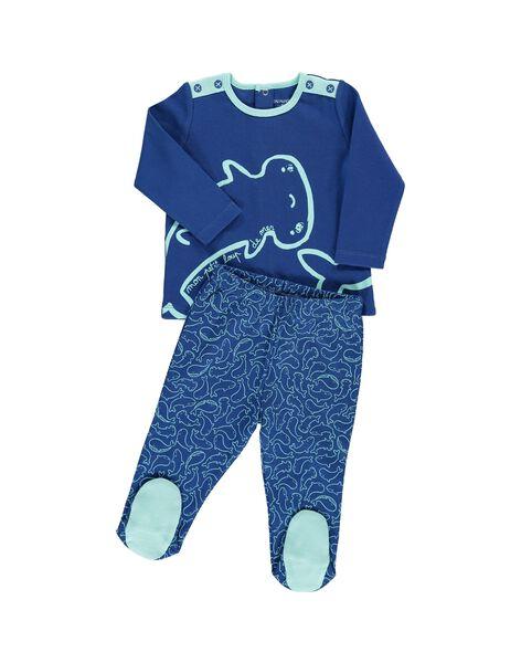 Baby boys' cotton pyjamas CEGUPYJMER / 18SH1451PYJ217