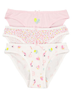 Pack of girls' briefs FEFALOTPOI / 19SH11I2SLI099