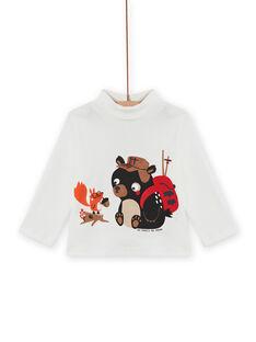 Baby boy's ecru teddy bear and squirrel underpants MUFUNSOUP / 21WG10M1SPL001