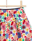 Girl's reversible skirt with ruffles and colorful flower print MAMIXJUP2 / 21W901J1JUP009