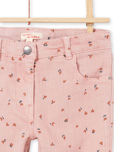 Girl's pink flowery pants MAJOPANT2 / 21W90122PAN312
