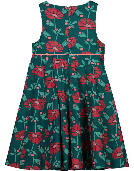 Girls' flowery dress GAVEROB2 / 19W90122ROBG627